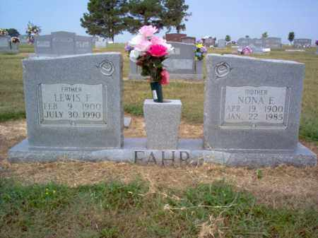 FAHR, NONA E - Cross County, Arkansas | NONA E FAHR - Arkansas Gravestone Photos