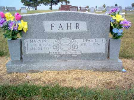 FAHR, MARVIN LEWIS - Cross County, Arkansas | MARVIN LEWIS FAHR - Arkansas Gravestone Photos