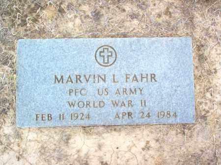 FAHR (VETERAN WWII), MARVIN LEWIS - Cross County, Arkansas   MARVIN LEWIS FAHR (VETERAN WWII) - Arkansas Gravestone Photos