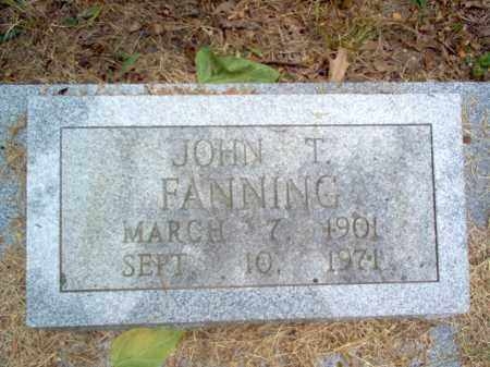 FANNING, JOHN T - Cross County, Arkansas | JOHN T FANNING - Arkansas Gravestone Photos