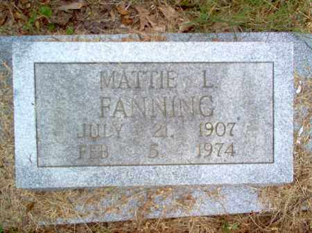 FANNING, MATTIE L - Cross County, Arkansas | MATTIE L FANNING - Arkansas Gravestone Photos