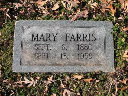 FARRIS, MARY - Cross County, Arkansas | MARY FARRIS - Arkansas Gravestone Photos