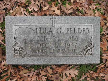 FELDER, LULA G - Cross County, Arkansas | LULA G FELDER - Arkansas Gravestone Photos