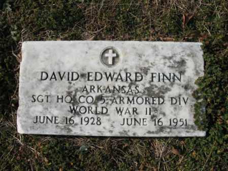 FINN (VETERAN WWII), DAVID EDWARD - Cross County, Arkansas | DAVID EDWARD FINN (VETERAN WWII) - Arkansas Gravestone Photos