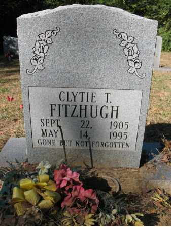 FITZHUGH, CLYTIE T - Cross County, Arkansas | CLYTIE T FITZHUGH - Arkansas Gravestone Photos