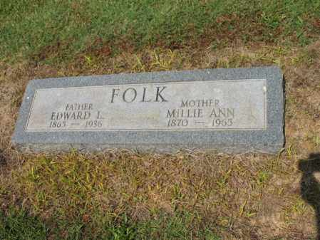 FOLK, EDWARD L - Cross County, Arkansas | EDWARD L FOLK - Arkansas Gravestone Photos