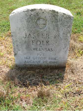 FOLK (VETERAN), JASPER N - Cross County, Arkansas | JASPER N FOLK (VETERAN) - Arkansas Gravestone Photos