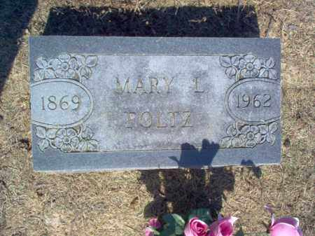 FOLTZ, MARY L - Cross County, Arkansas | MARY L FOLTZ - Arkansas Gravestone Photos