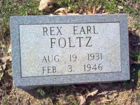 FOLTZ, REX EARL - Cross County, Arkansas | REX EARL FOLTZ - Arkansas Gravestone Photos