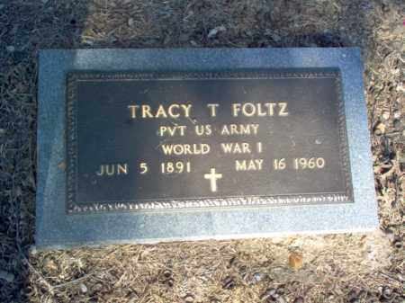 FOLTZ (VETERAN WWI), TRACY TORRENCE - Cross County, Arkansas | TRACY TORRENCE FOLTZ (VETERAN WWI) - Arkansas Gravestone Photos