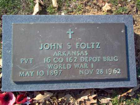 FOLTZ (VETERAN WWI), JOHN S - Cross County, Arkansas | JOHN S FOLTZ (VETERAN WWI) - Arkansas Gravestone Photos