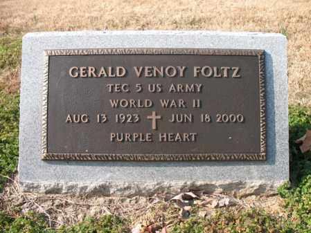 FOLTZ (VETERAN WWII), GERALD VENOY - Cross County, Arkansas | GERALD VENOY FOLTZ (VETERAN WWII) - Arkansas Gravestone Photos