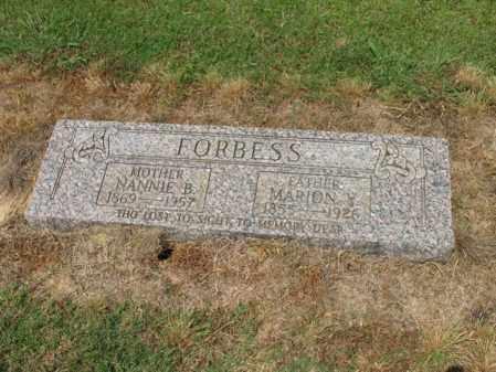 FORBESS, NANNIE B - Cross County, Arkansas | NANNIE B FORBESS - Arkansas Gravestone Photos