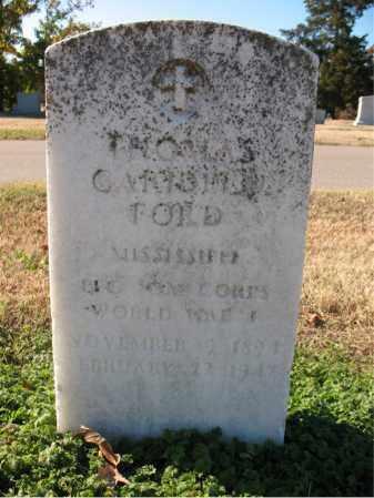 FORD (VETERAN WWI), THOMAS CARIDEEN - Cross County, Arkansas | THOMAS CARIDEEN FORD (VETERAN WWI) - Arkansas Gravestone Photos