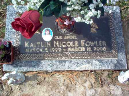 FOWLER, KAITLIN NICOLE - Cross County, Arkansas | KAITLIN NICOLE FOWLER - Arkansas Gravestone Photos