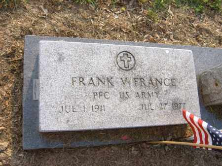 FRANCE (VETERAN), FRANK W - Cross County, Arkansas | FRANK W FRANCE (VETERAN) - Arkansas Gravestone Photos