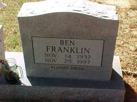 FRANKLIN, BEN - Cross County, Arkansas | BEN FRANKLIN - Arkansas Gravestone Photos