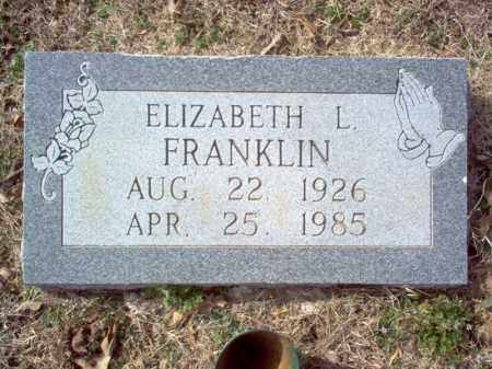 FRANKLIN, ELIZABETH L - Cross County, Arkansas | ELIZABETH L FRANKLIN - Arkansas Gravestone Photos
