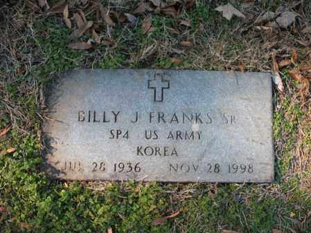 FRANKS, SR (VETERAN KOR), BILLY JOE - Cross County, Arkansas | BILLY JOE FRANKS, SR (VETERAN KOR) - Arkansas Gravestone Photos