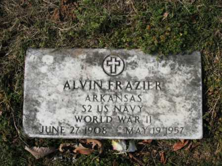 FRAZIER  (VETERAN WWII), ALVIN - Cross County, Arkansas | ALVIN FRAZIER  (VETERAN WWII) - Arkansas Gravestone Photos