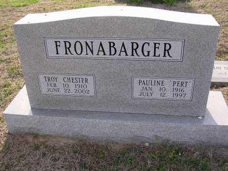 FRONABARGER, TROY CHESTER - Cross County, Arkansas | TROY CHESTER FRONABARGER - Arkansas Gravestone Photos