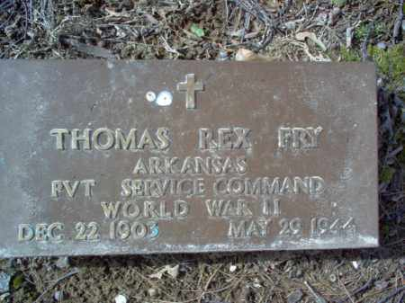 FRY (VETERAN WWII), THOMAS REX - Cross County, Arkansas | THOMAS REX FRY (VETERAN WWII) - Arkansas Gravestone Photos