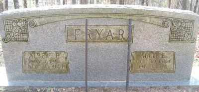 FRYAR, MARY E. - Cross County, Arkansas | MARY E. FRYAR - Arkansas Gravestone Photos