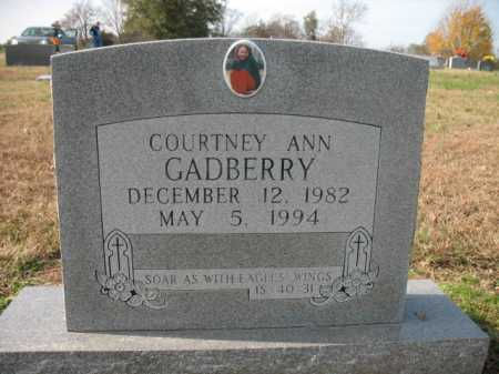 GADBERRY, COURTNEY ANN - Cross County, Arkansas | COURTNEY ANN GADBERRY - Arkansas Gravestone Photos