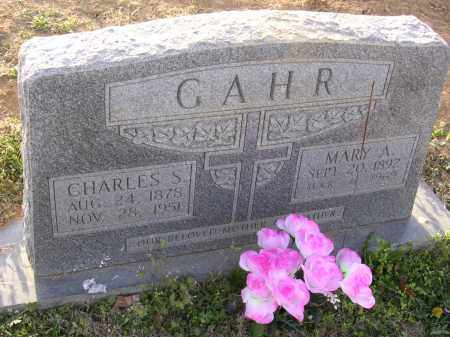 S GAHR, CHARLES - Cross County, Arkansas | CHARLES S GAHR - Arkansas Gravestone Photos