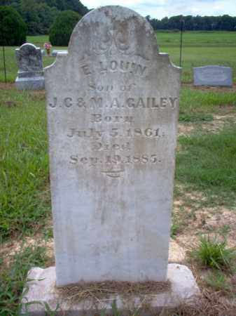 GAILEY, E LOUIN - Cross County, Arkansas | E LOUIN GAILEY - Arkansas Gravestone Photos