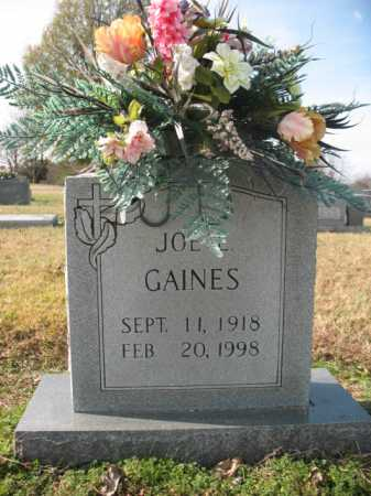 GAINES, JOE EMERSON - Cross County, Arkansas | JOE EMERSON GAINES - Arkansas Gravestone Photos