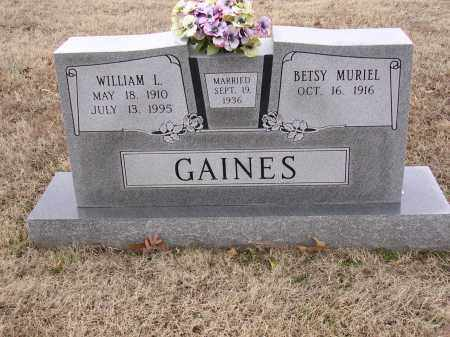 GAINES, WILLIAM L - Cross County, Arkansas | WILLIAM L GAINES - Arkansas Gravestone Photos