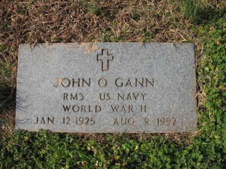 GANN (VETERAN WWII), JOHN O - Cross County, Arkansas   JOHN O GANN (VETERAN WWII) - Arkansas Gravestone Photos