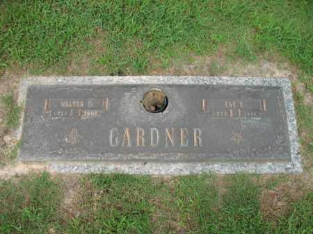 GARDNER, WALTER DANIEL - Cross County, Arkansas | WALTER DANIEL GARDNER - Arkansas Gravestone Photos