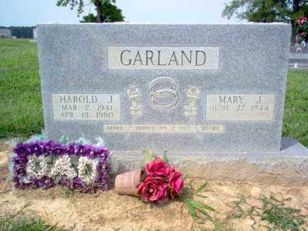 GARLAND, HAROLD JOSEPH - Cross County, Arkansas | HAROLD JOSEPH GARLAND - Arkansas Gravestone Photos