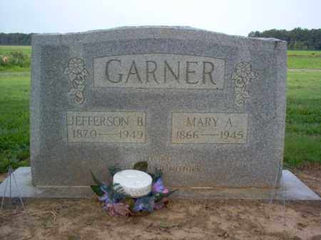 GARNER, MARY A - Cross County, Arkansas | MARY A GARNER - Arkansas Gravestone Photos