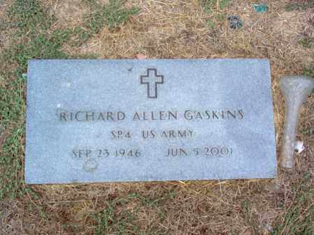 GASKINS (VETERAN), RICHARD ALLEN - Cross County, Arkansas | RICHARD ALLEN GASKINS (VETERAN) - Arkansas Gravestone Photos