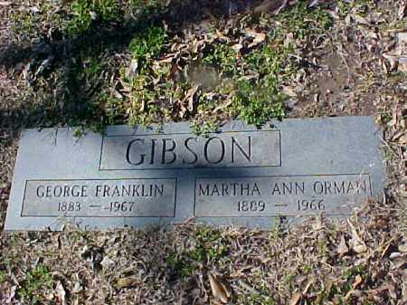 ORMAN GIBSON, MARTHA ANN - Cross County, Arkansas | MARTHA ANN ORMAN GIBSON - Arkansas Gravestone Photos