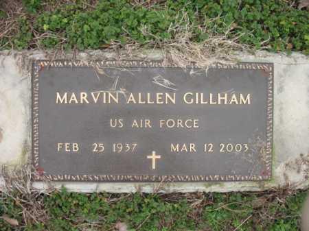 GILLHAM (VETERAN), MARVIN ALLEN - Cross County, Arkansas | MARVIN ALLEN GILLHAM (VETERAN) - Arkansas Gravestone Photos