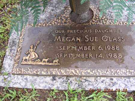 GLASS, MEGAN SUE - Cross County, Arkansas | MEGAN SUE GLASS - Arkansas Gravestone Photos