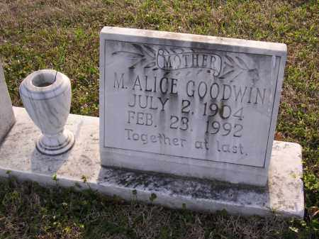 GOODWIN, M ALICE - Cross County, Arkansas | M ALICE GOODWIN - Arkansas Gravestone Photos