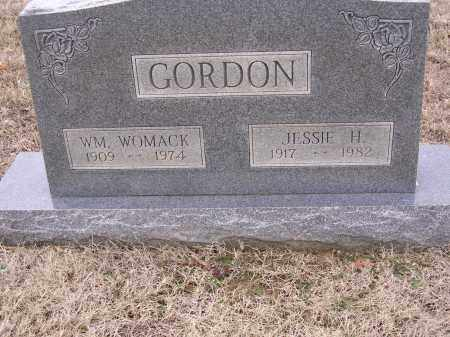 GORDON, JESSIE H - Cross County, Arkansas | JESSIE H GORDON - Arkansas Gravestone Photos