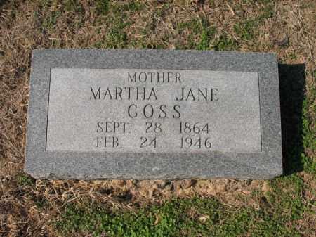 GOSS, MARTHA JANE - Cross County, Arkansas | MARTHA JANE GOSS - Arkansas Gravestone Photos