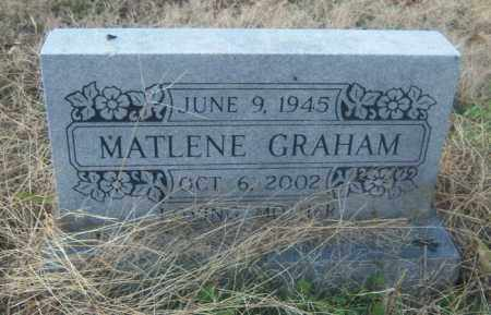 GRAHAM, MATLENE - Cross County, Arkansas | MATLENE GRAHAM - Arkansas Gravestone Photos