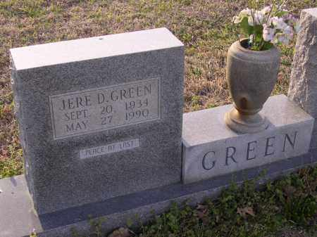 GREEN, JERE D - Cross County, Arkansas | JERE D GREEN - Arkansas Gravestone Photos