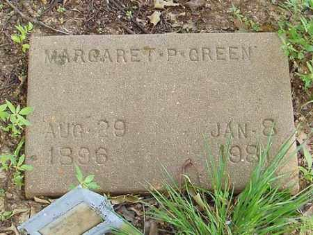 GREEN, MARGARET P. - Cross County, Arkansas | MARGARET P. GREEN - Arkansas Gravestone Photos