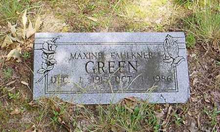 FAULKNER GREEN, MAXINE - Cross County, Arkansas | MAXINE FAULKNER GREEN - Arkansas Gravestone Photos