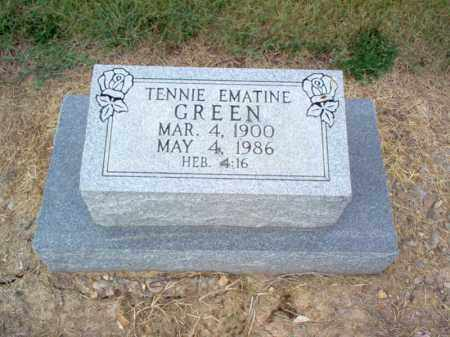 GREEN, TENNIE EMATINE - Cross County, Arkansas | TENNIE EMATINE GREEN - Arkansas Gravestone Photos