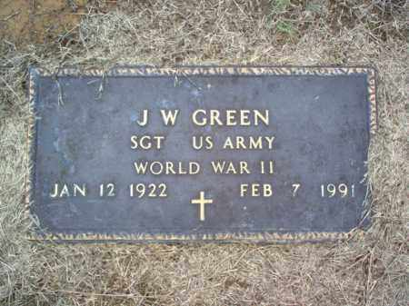 GREEN (VETERAN WWII), J W - Cross County, Arkansas | J W GREEN (VETERAN WWII) - Arkansas Gravestone Photos