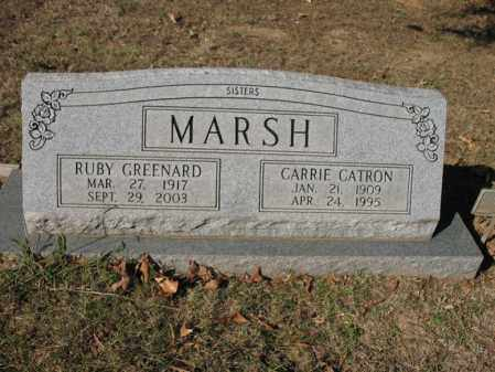 MARSH CATRON, CARRIE - Cross County, Arkansas | CARRIE MARSH CATRON - Arkansas Gravestone Photos